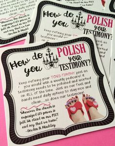 Spa Day Activity -  Testimony Handout.