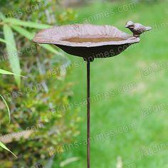 Bain d'oiseau fonte a piquer
