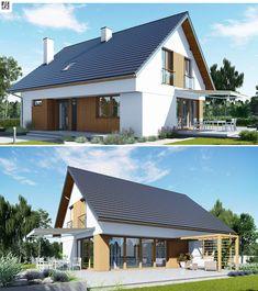 Projekt domu jednorodzinnego z poddaszem użytkowym o powierzchni użytkowej około 144 m². Budynek nie posiada garażu, dzięki czemu przy stosunkowo niewielkiej powierzchni oferuje wysoki komfort. Architekturę domu charakteryzuje prostota i nowoczesność. Efektowny wygląd zewnętrzny podkreślają subtelnie dobrane okładziny elewacji i nowoczesna kolorystyka. O wyjątkowym komforcie wnętrza decydują obszerne, widne pomieszczenia z reprezentacyjnym salonem i dużą kuchnią na czele.