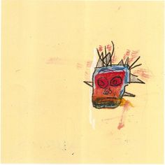 Jean-Michel Basquiat, Untitled (Gold Head), 1986, Crayon and graphite on paper
