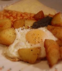 Posh Egg, Chips and Beans Recipe on Yummly. @yummly #recipe