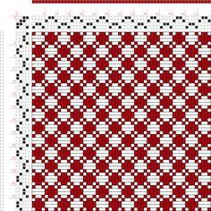 Weaving Draft Figure 766, A Handbook of Weaves by G. H. Oelsner, Germany, 1915, #34391