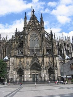 Of all I've seen, this is my favorite cathedral.  Colonge, Germany