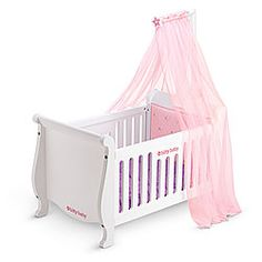 Sweet Dreams Doll Crib & Canopy Set by American Girl® American Girl Furniture, Girls Furniture, American Girl Accessories, Baby Doll Accessories, Little Girl Toys, Baby Girl Toys, American Girl Baby Doll, Wooden Cribs, Baby Canopy