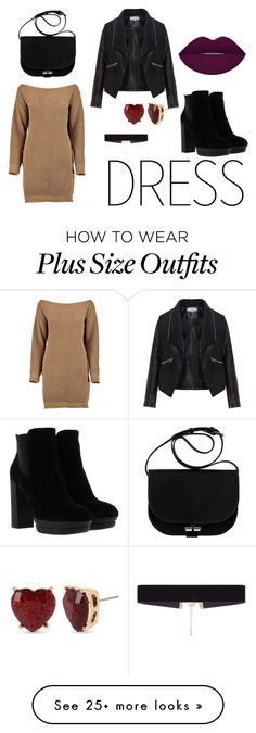 """""""Winter Dress Under $100"""" by nsckaprgmd on Polyvore featuring Zizzi, Hogan, 8 Other Reasons and Betsey Johnson"""