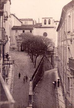 Vista parcial de la calle Santo Domingo hacia 1926. Pamplona.