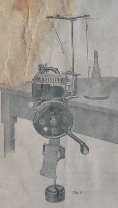 Auto knitter sock knitting machine sketch