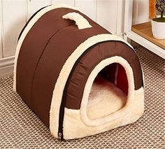 Cheap Winter Warm FOLDABLE Non-Slip Outdoor Pet Kennel Cozy Dog House Cat Sofa Puppy Bed (L (58x45x43cm) Brown) https://dogcratereview.info/cheap-winter-warm-foldable-non-slip-outdoor-pet-kennel-cozy-dog-house-cat-sofa-puppy-bed-l-58x45x43cm-brown/