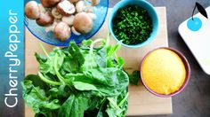Steaks de polenta – Poêlée de champignons & épinards