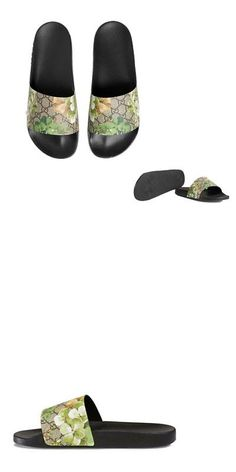 62c0cd08eeb5aa Sandals and Flip Flops 62107  New With Box Gucci Gg Supreme Canvas Blooms  Women S Slides Green Us Size 7 Andandand -  BUY IT NOW ONLY   124.65 on eBay !
