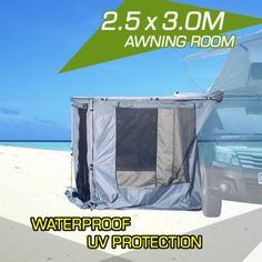 New Awning Room Tent Shade Fly Mesh Off Road 4x4 4wd Roof Rack Camping 2 5m X 3m Roof Rack 4x4 Camper Conversion