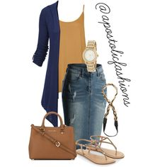 Apostolic Fashions #1590 by apostolicfashions on Polyvore featuring moda, Doublju, WearAll, Accessorize, MICHAEL Michael Kors, DKNY, Jules Smith, modestlykay and modestlywhit