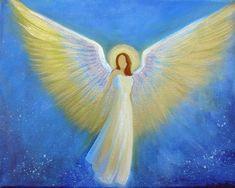 CapeCodArtist Original Acrylic Painting Spiritual Healing Angel