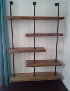 wood shelves plumbing pipes google search reno diy pinterest plumbing pipe wood shelf. Black Bedroom Furniture Sets. Home Design Ideas