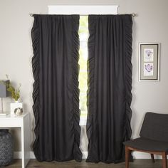 Found it at Joss & Main - Victoria Ruffle Blackout Curtain Panel Pair