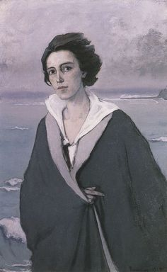 Romaine Brooks, self portrait. Translate to self portrait assignment using primarily one color (in this case, it is gray).