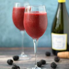 Impress your friends on a hot, summer day with a delicious Wine Smoothie. So simple to make, you just need a bag of frozen berries and a sweet, white wine.