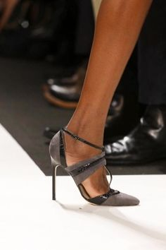 These Shoes are presenting the legs of a Lady: Carolina Herrera Fall Winter 2013 heels