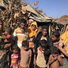 Rohingya Muslims at Kutupalang refugee camp in Bangladesh