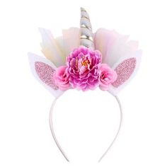 Ingenious Funny Flower Bunny Headband Woman Wedding Maternity Photoshoot Props Khaki Animal Ear Hairbands Cute Novelty Party Accessories Hair Jewelry