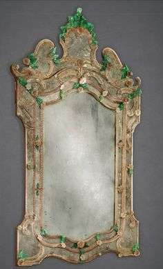 venetian green glass mirror