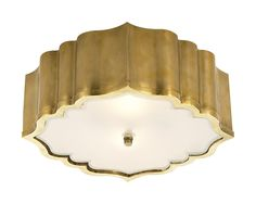 Balthazar Flush Mount {natural brass}