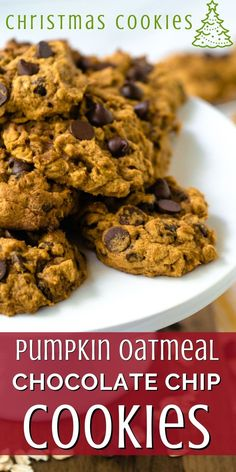 Need a cookie with fall flare? Pumpkin Oatmeal Chocolate Chip cookies are a seasonal twist on my family's favorite chocolate chip cookies. Semi sweet or dark chocolate chips combine with pumpkin and oatmeal. These cookies are soft and rich for a delicious fall treat, perfect for Thanksgiving or Christmas! Roll Cookies, Yummy Cookies, Cookies Et Biscuits, Pumpkin Chocolate Chip Cookies, Dark Chocolate Chips, Refrigerator Cookies, Pumpkin Oatmeal, Fall Treats, How To Make Cookies