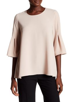 Pleated Bell Sleeve Blouse by Pleione on @nordstrom_rack