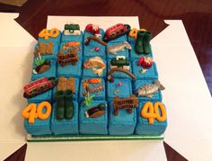 Fishing narrow boat cake from Cakes By Nicky