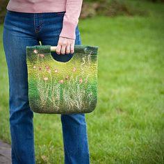 https://flic.kr/p/7NUQSn   Hand felted seamless bag from merino wool