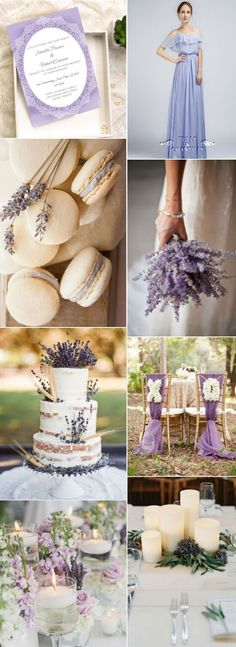 romantic lavender purple spring wedding ideas