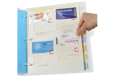 #Business Contact Page - Three-hole pages designed for quick and efficient #organization of any business card collection. Effectively lets sales personnel file a contact's card in a crystal clear pocket and make any necessary notes while working in a fast-paced environment.