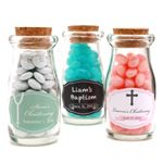 Christening - Baptism Personalized Vintage Milk Favor Jars - Christening Baptism Favors - Other Occasions - Wedding Favors & Party Supplies - Favors and Flowers