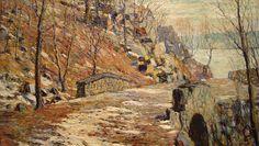 Road Down the Palisades - Ernest Lawson, STL Art Museum Urban Landscape, Landscape Art, Stl Art Museum, Ashcan School, American Impressionism, Portraits, American Artists, Artist At Work, Lovers Art