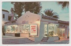 Palm Springs California 1958 Postcard Adrian's Gift Shop