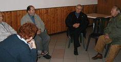 Un'immagine dell'incontro del 18 novembre 2004 a Usigliano con Marino e Cesare Lattici.