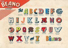 Vintage British comic lettering