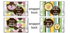 QUEEN KING of the JUNGLE Baby Shower mini candy bar wrappers Party Favor