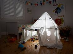 ... build your own fort/cubby/rocket/palace add a bedsheet of your choice