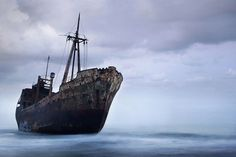 Ghost ship in the Peleponnese