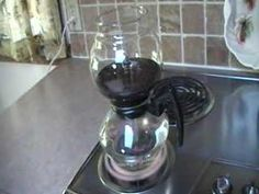 Vintage Cory Vacuum Coffee Pot Brewing Demo - YouTube