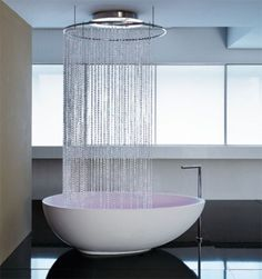 #bathroom #shower #waterfall @Tony Gebely and Ani Gafafyan | americanarealestategroup.com