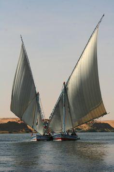 Faluca  en el Nilo  Egypt