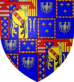Arms of the_ducs_de_Mayenne, another cadet branch of the House of Guise, itself a cadet branch of the House of Lorraine.