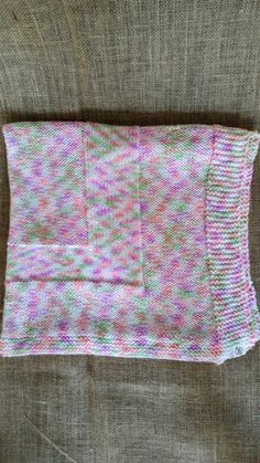 Handmade Hand Knit Baby Pink Purple Green White by JSWarmth