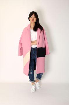 Colour Block Coat http://www.threequartershop.com