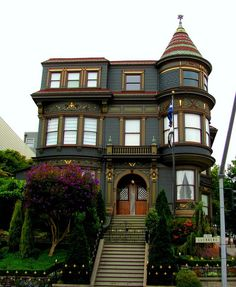 Blue Pueblo, Victorian House, San Francisco, California