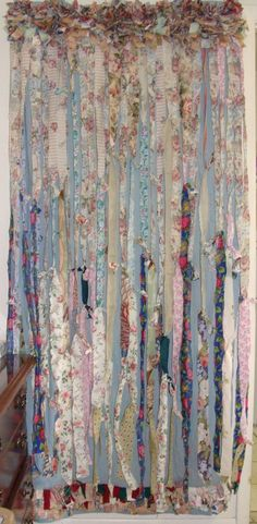 Shabby Chic/Boho/Boho Gypsy Curtain by BohoBagsNThings on Etsy. so pretty but yet so easy!