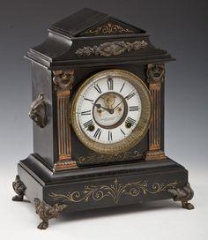 Ansonia Slate Mantle Clock : Lot 168
