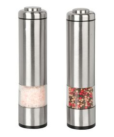 Love this Stainless Steel Salt & Pepper Grinders on #zulily! #zulilyfinds
